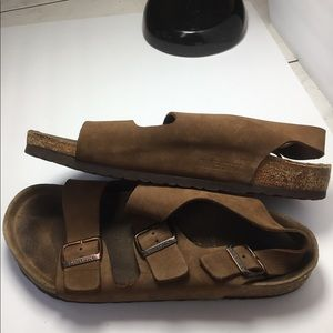 Men's Birkenstock Suede Sandals size 10